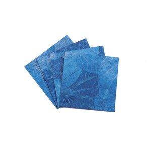 "4er-Set Untersetzer ""Lotus Pond"" aus handgeschöpftem Recycling Baumwoll-Papier - Sundara"