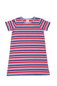 Baby und Kinder Nachthemd rot/pink/blau geringelt Bio Baumwolle - People Wear Organic