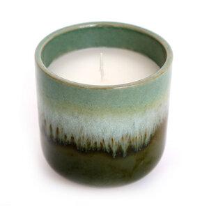 Duftkerze Eukalyptus mit Porzellanschale - Mitienda Shop