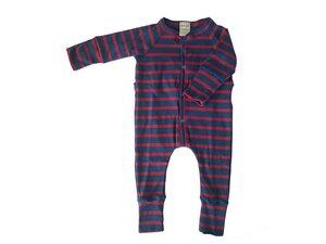 Baby Schlaf Strampler aus Biobaumwolle mit rückwärtiger Hosenklappe - Ulalü