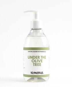 Flüssigseife mit Olivenduft   Under the olive tree   Savon de Marseille - So Pastelle