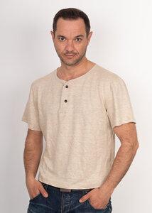 original Hanf T-Shirt mit Knopfleiste Made in Germany - Cannamoda