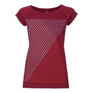 ThokkThokk Spacegrid Cap Sleeve T-Shirt ruby - THOKKTHOKK