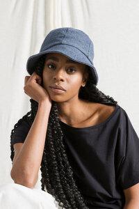 Recycelter Denim-Baumwolle Cloche Hut - Caroline - Rifò - Circular Fashion
