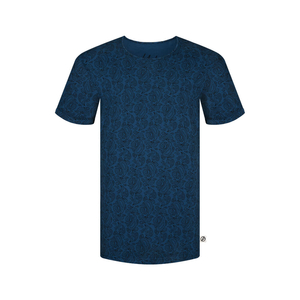 Paisley Allover T-Shirt Blau - bleed