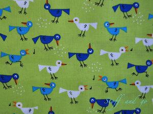 Bio Baumwollstoff - Vögel / Birds - Cloud 9 Fabrics