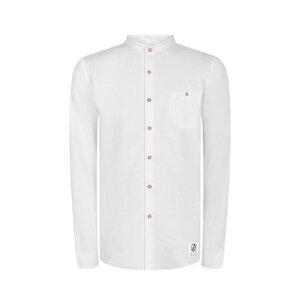Schawola Leinen Hemd Weiß - bleed