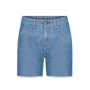 Jeans Shorts Lyocell (TENCEL) Damen Recycelt Blau - bleed