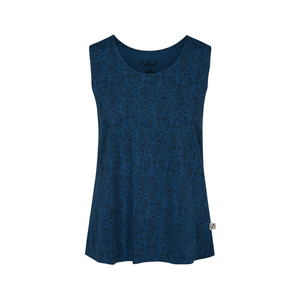 Paisley Top Damen Blau - bleed