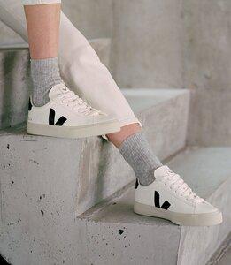 Sneaker Herren - Campo Chromefree Leather - White Black - Veja