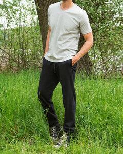 Jogginghose, unisex schwarz 63210 Biobaumwolle Hose - Living Crafts