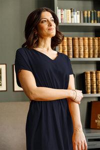 Kleid Lakshmi aus Tencel - l'amour est bleu
