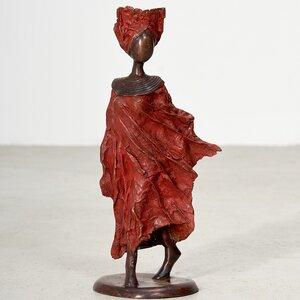 "Bronze-Skulptur ""Femme du Sahel"" by Patrice Balma Unikate - 38 cm, versch. Farben - Moogoo Creative Africa"