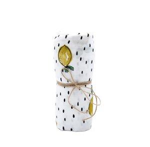 Musselin Mulltücher 2er Set Zitrone super weich aus Musselin Bio Baumwolle - Hutch&Putch