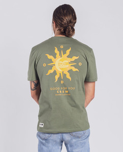 Herren T-Shirt - Sun Crew - Dunkelgrün - Degree Clothing