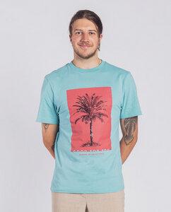Herren T-Shirt - Code palm - Türkis - Degree Clothing