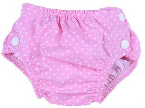 Baby Badehose-Badewindel rosa mit Punkten schadstoffgeprüft - Popolini