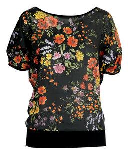 T-Shirt Linda mit Blumenmuster - LASALINA