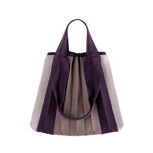 Plissierte Shopper-Tasche aus recyceltem Meeresplastik - PLEATSMAMA