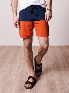 ECONYL® Retro Boardshorts Orange - bleed