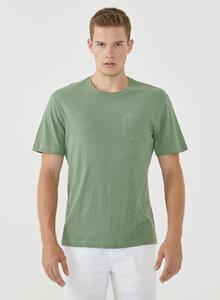 T-Shirt aus Bio-Baumwolle und Leinen mit Brusttasche - ORGANICATION