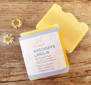 Wollwaschseife / Lanolinseife / Wollfettseife ohne Duft - Küstenseifen Manufaktur