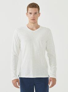 Langarmshirt aus Leinen und Bio-Baumwolle - ORGANICATION