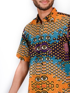 Kurzarmhemd Guiss Guiss Sunugal Gelb / Blau / Schwarz / Violett Herren  - Sunugal