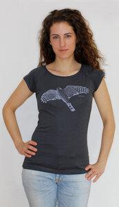 Bio-Bambus-Viskose Shirt Sperber - Peaces.bio - EarthPositive® - handbedruckt