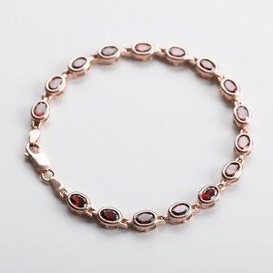 Unikat: Vintage Armband mit roten Steinen, Roségold - MishMish by WearPositive