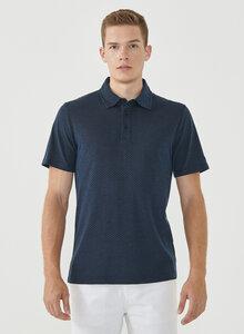 Poloshirt aus Bio-Baumwolle mit Punktmuster - ORGANICATION
