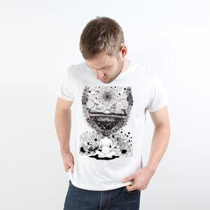 Mother Nature Mindset - Printshirt Männer aus Biobaumwolle - Coromandel