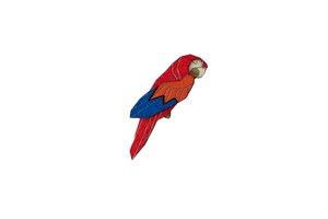 Brosche aus Holz - Ara Papagei Brosche | Mode Schmuck | Unisex - BeWooden