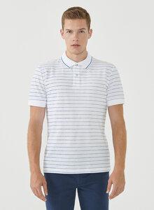 Gestreiftes Poloshirt aus Bio-Baumwolle - ORGANICATION