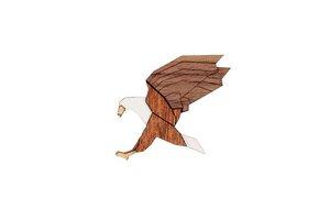 Brosche aus Holz - Adler Brosche   Mode Schmuck   Unisex - BeWooden
