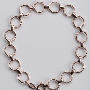 Unikat: Vintage Armband Kreise, Roségold - MishMish by WearPositive