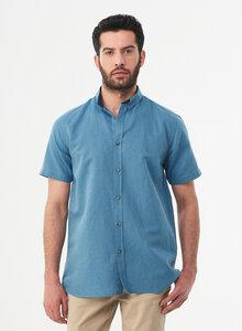 Kurzarm-Hemd aus Leinen und Bio-Baumwolle - ORGANICATION