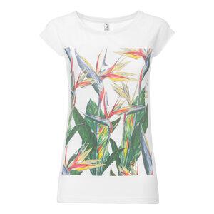 ThokkThokk Paradiseflower Cap Sleeve T-Shirt white - THOKKTHOKK
