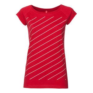ThokkThokk Thin Striped Cap Sleeve T-Shirt white/red - THOKKTHOKK