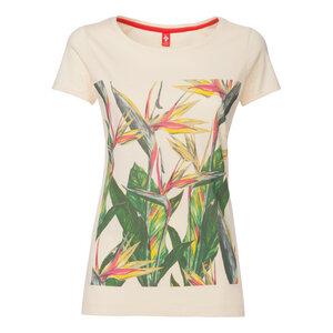 ThokkThokk Paradiseflower Supercut  Woman T-Shirt Macadamia - THOKKTHOKK