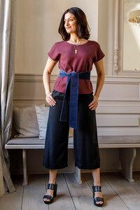Culottes Michelle aus Tencel - l'amour est bleu