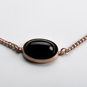 Unikat: Vintage Armband Onyx, Roségold - MishMish by WearPositive