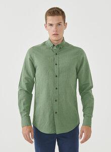 Langarm-Hemd aus Leinen und Bio-Baumwolle - ORGANICATION