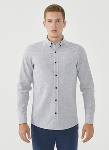 Langarm-Hemd aus Leinengemisch - ORGANICATION