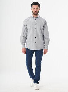 Langarm-Hemd aus Bio-Baumwolle mit Streifenmuster - ORGANICATION