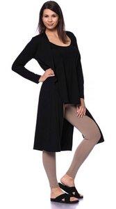 KAYLA langer Jersey-Cardigan aus Bambus-Viskose - Ingoria
