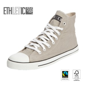 Fair Trainer Hi Cut Classic Urban Grey | Just White - Ethletic