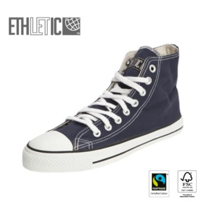 Fair Trainer Hi Cut Classic Ocean Blue | Just White - Ethletic