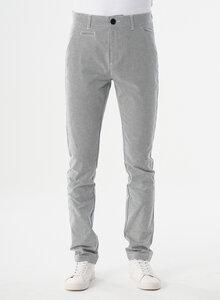Slim Chino-Hose aus Bio-Baumwolle mit Streifenmuster - ORGANICATION
