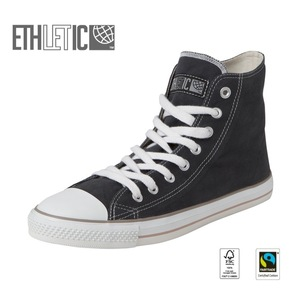 Fair Trainer Hi Cut Collection15 Pewter Grey | Just White - Ethletic
